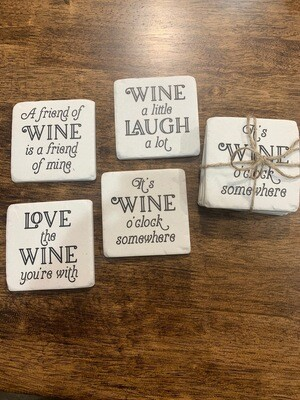 Wine Sayings Coaster Set