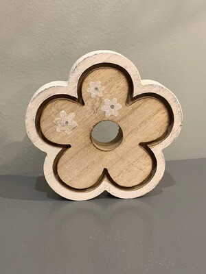 Flower Shelf Sitter Wood