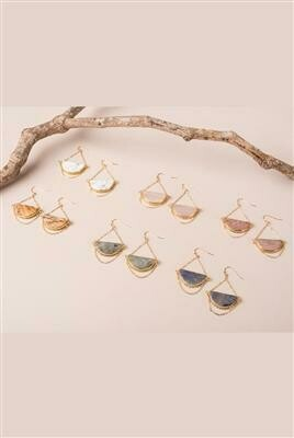 You're a Gem Crescent Stone Earrings