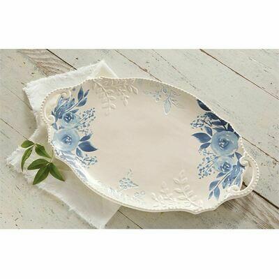 Blue Floral Large Platter