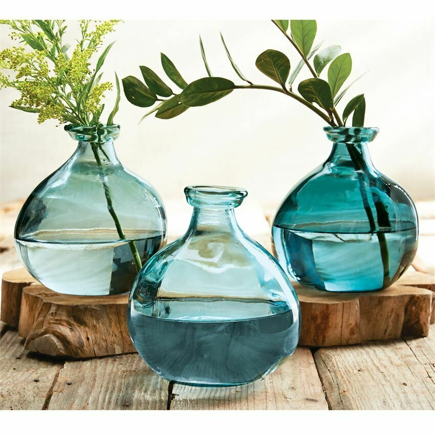 Blue Short Vase