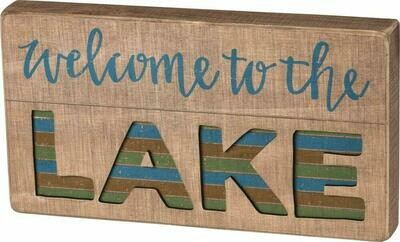 The Lake Slat Box Sign