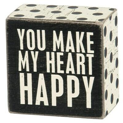 Heart Happy Box Sign