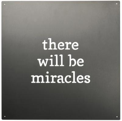 Miracles Metal Wall Art