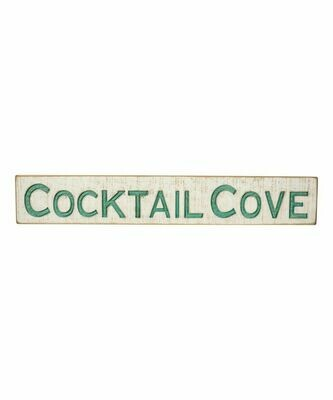 Cocktail Cove Carved Sign
