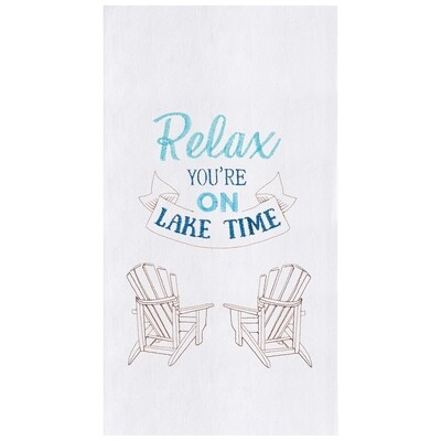 Relax Lake Time Dish Towel