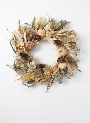 Pumpkin/Husk Wreath br/gr