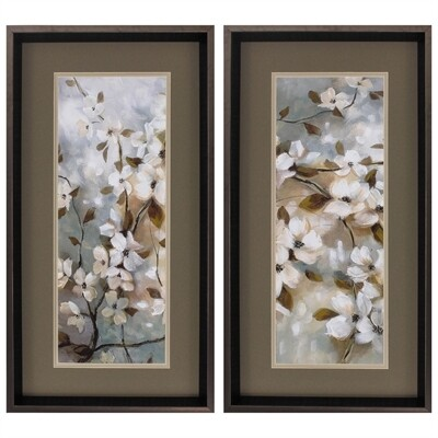 Blossoms of Spring Framed Wall Art Set/2