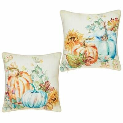 Watercolor Pumpkin Pillow