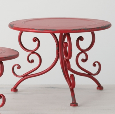 Red Tabletop Stand Lg