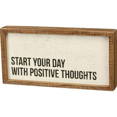 Start Your Day Inset Box Sign