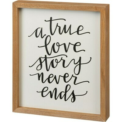 A True Love Story Inset Box Sign