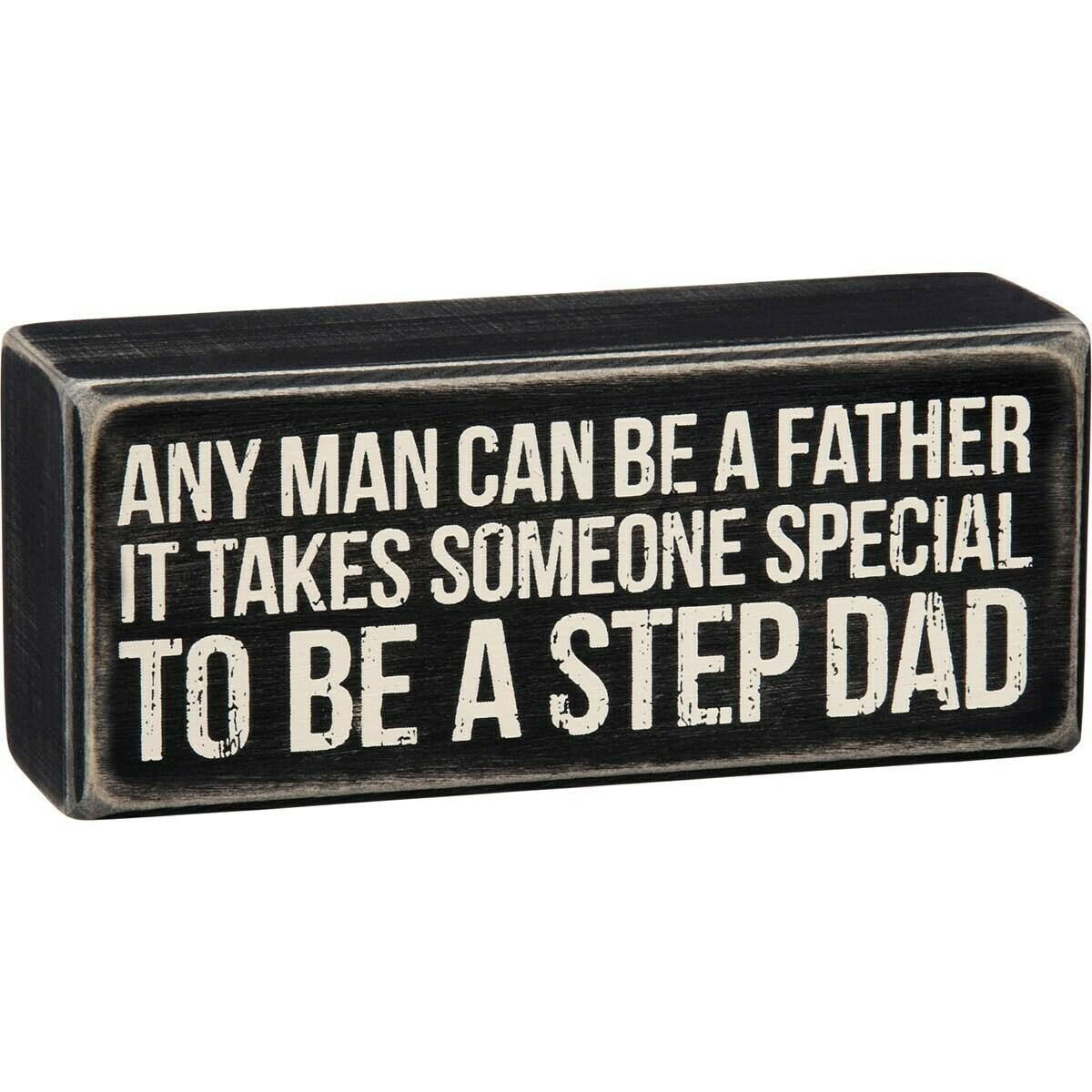 Step Dad Box Sign