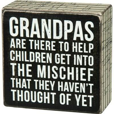 Grandpas Box Sign