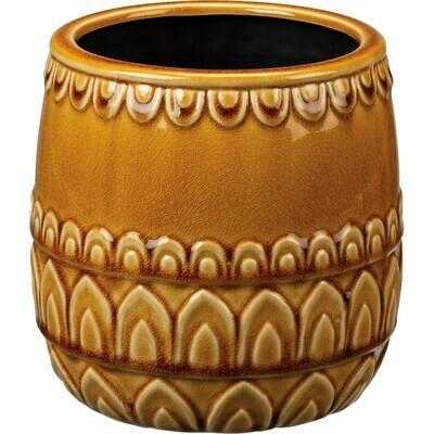 Round Saffron Arches Pot