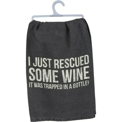 Rescued Wine Dish Towel