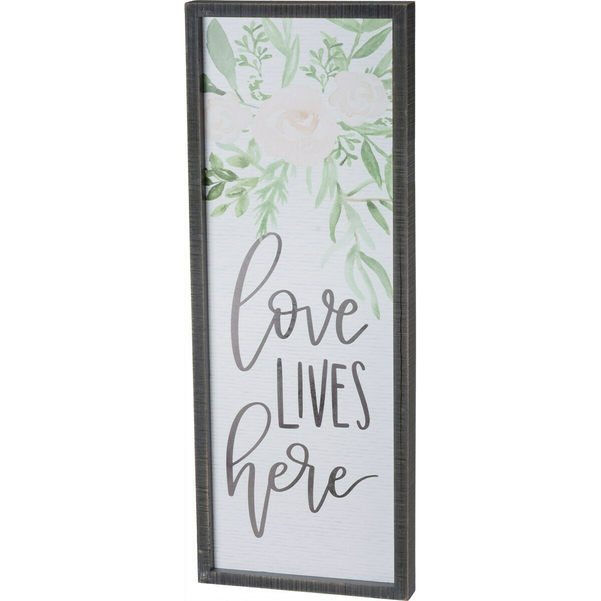 Love Lives Inset Box Sign