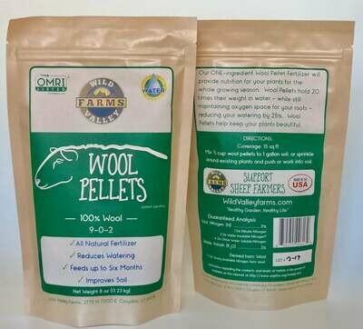 Wool pellets 8 oz.