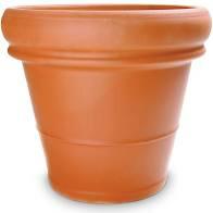 """22"""" Heavy Rim Terra Cotta Clay Pot"""