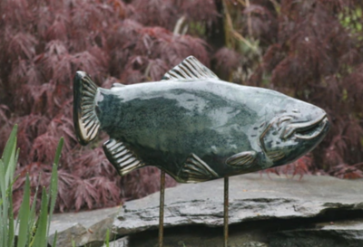 Trout in the Garden - Large Opal Left