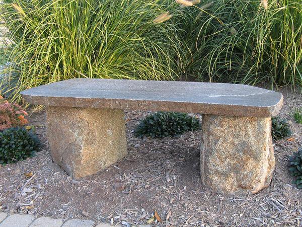 Bench Granite Boulder