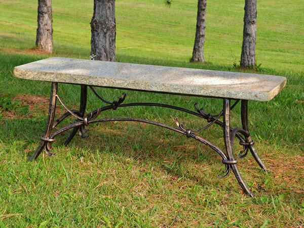 "Bench Tuscany Polished Jade Seat 46"""