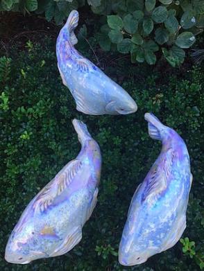 Koi in the Garden - Small Opal Right