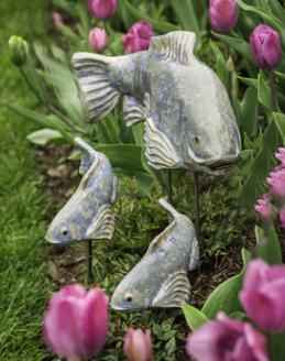 Koi in the Garden - Medium Opal Right