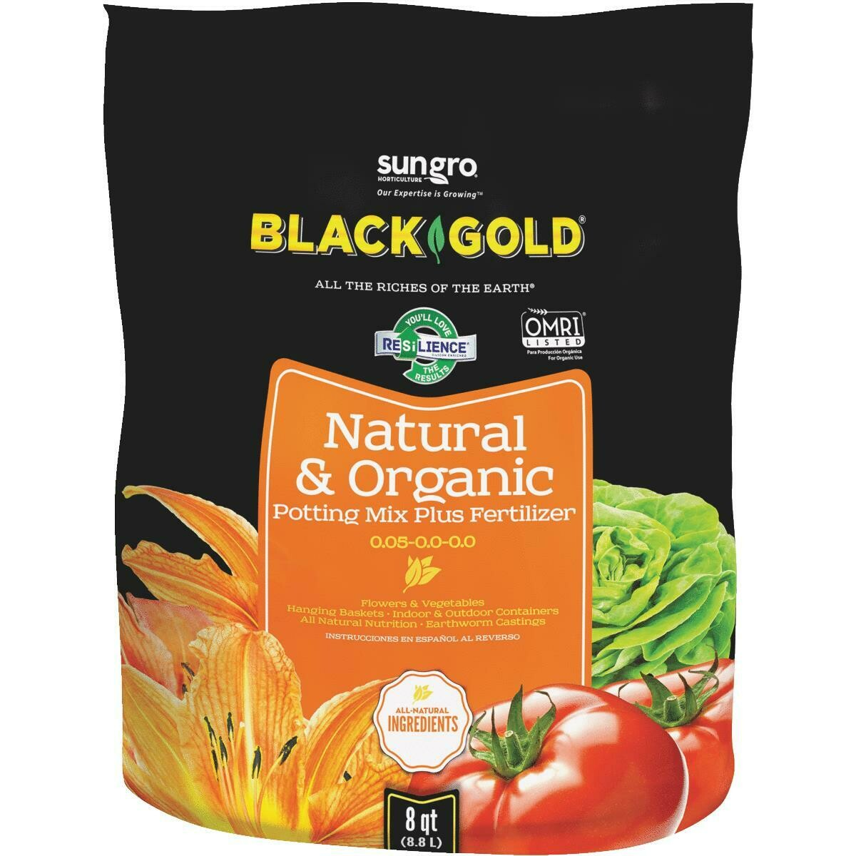 Black Gold Natural & Organic Potting Mix - 8 quart