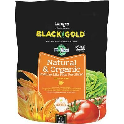 Black Gold Natural & Organic Potting Mix - 8 quart