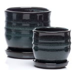 Melting Petits Pot w/ Attached Saucer, Night - Small