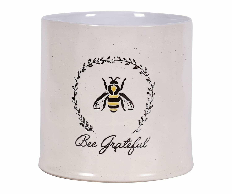 "Bee Grateful Planter 6"""