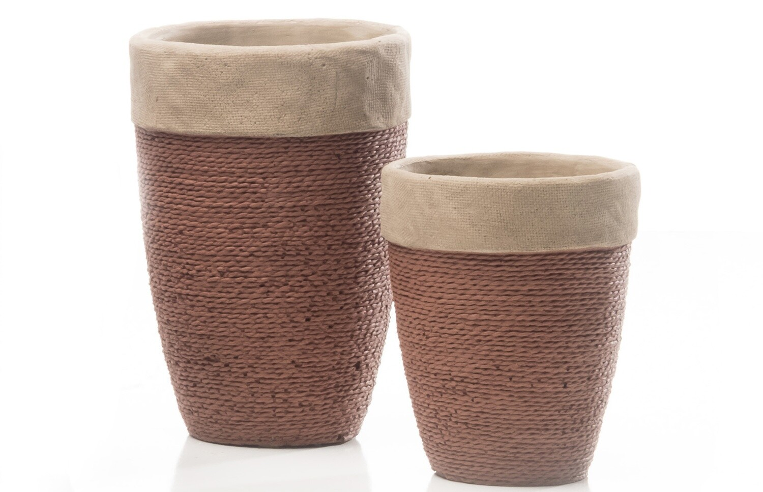 Tall Abaca Planter, Coyote - Large