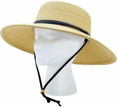 Hat Woman's Wide Brim Medium light brown