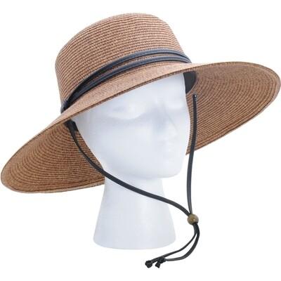 Hat Woman's Wide Brim dark brown