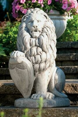Large Lion With Shield - Right