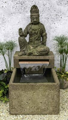 Antique Quan Yin Buddha Fountain