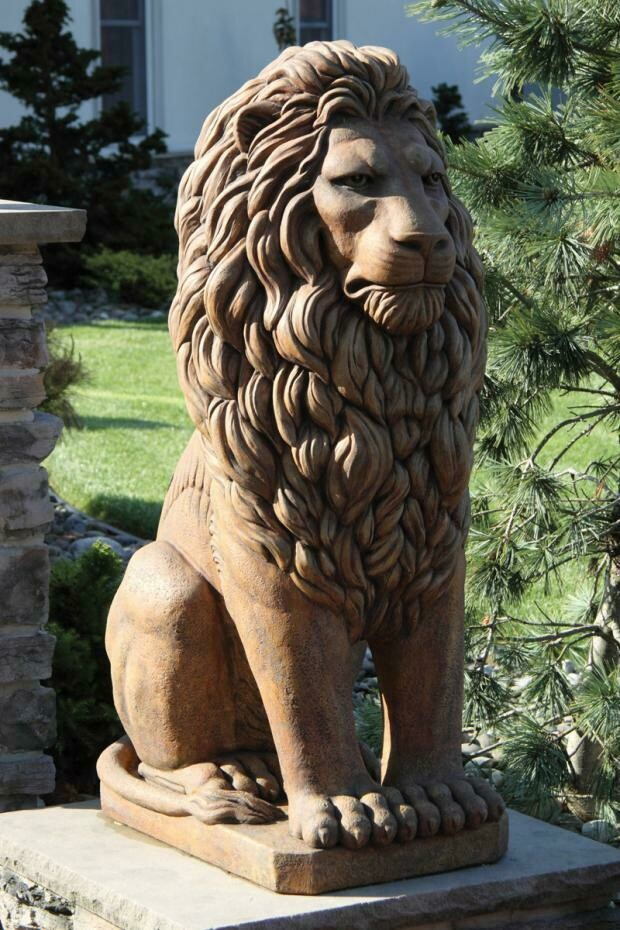 "Large 48"" Grandessa Sitting Lion (ds88)"