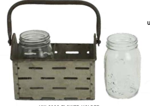 Flower Holder - 2 ball jars