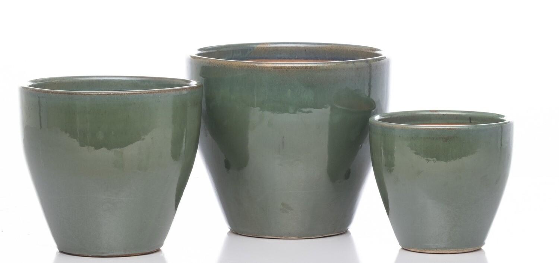 Plain Egg Short Planter - Ocean Green - Medium