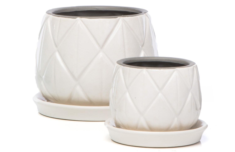 Diamond Groove Petits Pots Alabaster Large