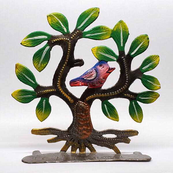 "Painted Tree w/ Bird 4.5"""