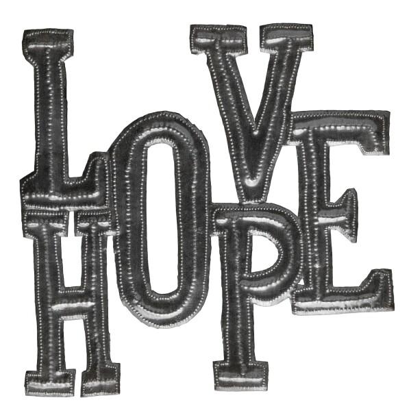 "Love Hope 8.25""x8"""