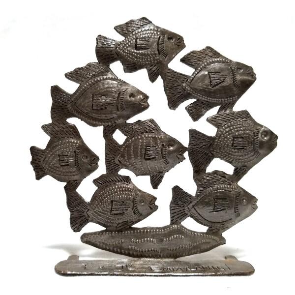 "Freestanding Tropical School of Fish 4.5"""