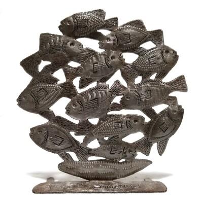 Freestanding School of 12 Fish 4.5