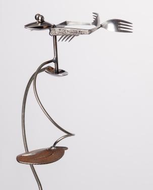 Metal Silverware Garden Stands - Tipsy Toad