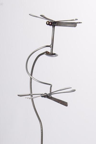 Metal Silverware Garden Stands - Drunken Dragonfly