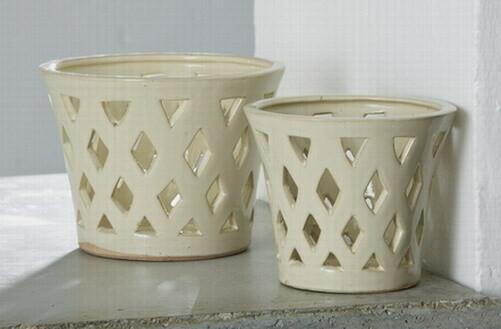 Gwyneth Planter Sm - Linen Cream
