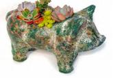 "Pig Planter Mini 10"""