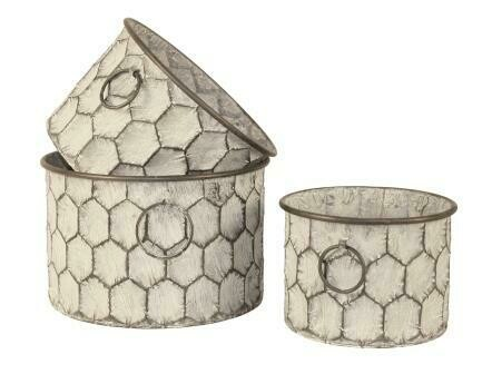 Urban Honeycomb Round Planter - Small